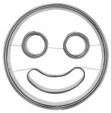 Ausstechform Smiley
