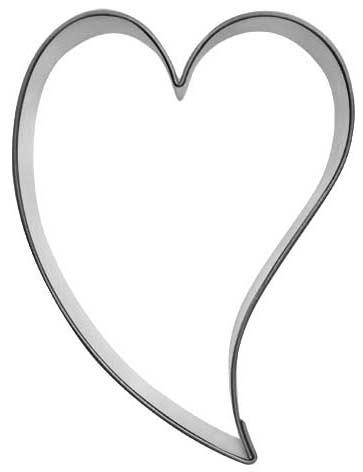 Herz schräg S - 6,5 cm - Herzen & Sterne - Ausstecher.de